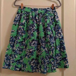 JCREW patterned mid length skirt